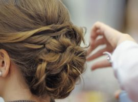 Simple updo hairstyles for special events